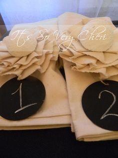 Special Request napkin decor