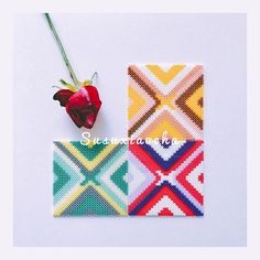 Coaster set hama beads by susuxiaocha