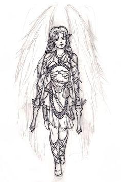 This is my last sketch, women elf; fantasy art. https://www.facebook.com/rysunki.nierealistyczne.dorkaart/