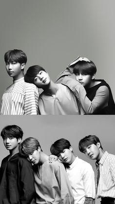 Namjoon, Jin and Tae. - Jungkook, Jimin, Yoongi and Hoseok. Jimin, Jungkook Fanart, Bts Bangtan Boy, Seokjin, Namjoon, Taehyung, Billboard Music Awards, Foto Bts, Btob