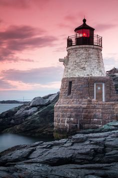 Beacon at Castle Hill Lighthouse, Rhode Island by Jim Boud via DealsPVD.com