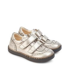 ANGULUS AW14 KIDS Shoes Style 3157 Metallic leather with velcro.
