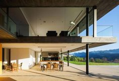 LG contemporary house set adjacent to a beautiful native forest is divided between daytime area and night area - CAANdesign   Architecture and home design blog