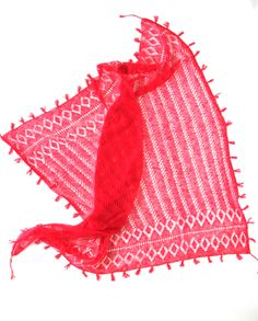 cashmere crochet scarf - electric pink - by Ryan Roche