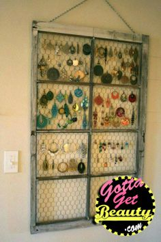 Creative Ways to store Jewelry! visit our the GottaGetBeauty blog to see all the ways you can store your jewelry