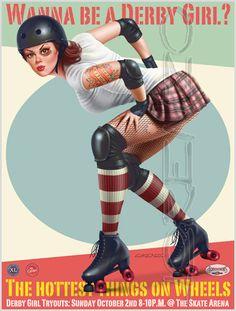 Roller Derby by LorenzoDiMauro.deviantart.com on @deviantART