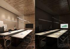 Miriã Campos | Arquitetura • Design • Maquete Eletrônica 3D | Design de interiores sala de reuniões aceso e apagado – Projeto e Maquete eletronica 3D – Belo Horizonte BH – Miriã Campos MCampos ar