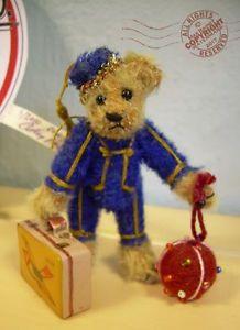 "FAB Artist Teddy ROOSEVELT BEAR CO miniature BELLHOP 3"" OOAK mohair luggage  | eBay #rooseveltbearco #cathypeterson #handmade #artistteddybears #teddybear #bears #plush #jointed #collector #teddybears #ted #circus #miniature #collctortoys #toycollector #designertoys #miniature #mohair #tinyteddy  #roosevelt #toys #dolls #plushtoys #collectible #bellhop #bountiful #ventura"