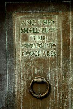NC State University Memorial Belltower   Isaiah 2:4