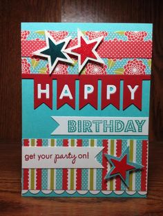 One Liners: happy (PTI,) by beesmom - Cards and Paper Crafts at Splitcoaststampers