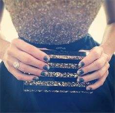 Love Monica Potter's glitter Essie mani! Awards Season Nails 2014 - NAILS Magazine
