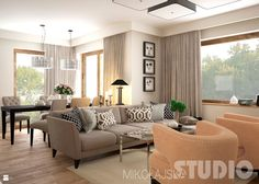 Salon w stylu eklektycznym - zdjęcie od MIKOŁAJSKAstudio - Salon - Styl…