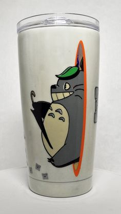 Totoro Going Portal 20oz Stainless Steel Tumbler