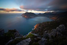 Sunset from Chapman's Peak... peak. South Africa Hike takes about 1 hour and 30 minutes up and your reward is a full 360 degree view from Hout Bay to Kommetjie. 30 second exposure f22 at ISO 50. Shot with a Sony A7iii and Tamron 17-28mm f/2.8 Di III RXD. Filters: Lee 0,6 soft grad filter and Lee Little Stopper. F22, Cape Town, Landscape Photography, South Africa, Sony, Filters, Hiking, River, Sunset