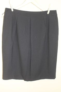 2e7e6fd73c ANN TAYLOR 8 Black Lined Basic Career Skirt w/ Pockets Virgin Wool Spandex  #fashion #clothing #shoes #accessories #womensclothing #skirts (ebay link)