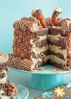 Epic Bacon Chocolate Mocha Ice Cream Cake (low carb and gluten free) - ibreatheimhungry.com Only 6g net carbs per serving!