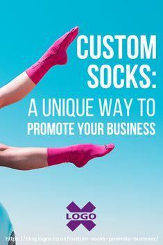 Custom Socks: A Unique Way To Promote Your Business Company Anniversary, Custom Socks, Innovative Ideas, Colorful Socks, Designer Socks, Promote Your Business, Cool Socks, Corporate Gifts, Business Logo