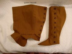 `.Tutorial: Making Two-Layer Spats or Gaiters.