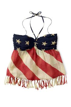 ralph lauren denim & supply american flag halter top.