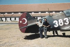 Tail of one of 42 Curtiss Tomahawk Mk. IIBs delivered from the RAF's stocks in Middle East to the Türk Hava Kuvvetleri, Turkish Air Force, o...