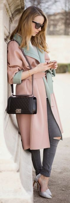 Pink And Mint Coat
