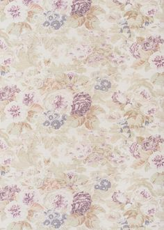 Faded Floral - Original on Oyster