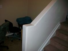 Drywall a banister and staircase (pics) - DoItYourself.com Community Forums NOTE: No bullnose returns.