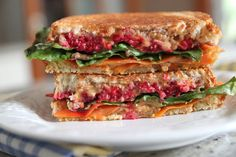 Grilled Peanut Butter Rainbow Sandwich