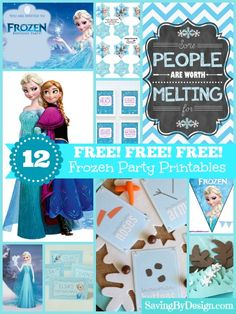These FREE Frozen party printables will be the perfect addition to your celebration! | Saving by Design