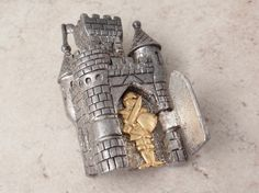 Knight in Shining Armor Pin Brooch Figural Articulated Vintage 082716UP by cutterstone on Etsy