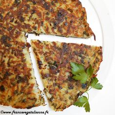 Milhassou (végétalien, vegan) — France végétalienne Vegan Patties, Tomate Mozzarella, Vegan Appetizers, French Food, Fritters, Vegetable Pizza, Vegan Recipes, Food And Drink, Veggies