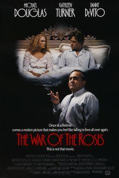 """The War of the Roses"" (1989). COUNTRY: United States. DIRECTOR: Danny DeVito. CAST: Michael Douglas, Kathleen Turner, Danny DeVito, Marianne Sägebrecht, G.D. Spradlin, Sean Astin, Peter Donat"