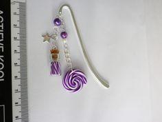 marque page sucette lolipop fiole sucre d orge multicolore violet bonbon cadeau unique : Marque-pages par fimo-relie