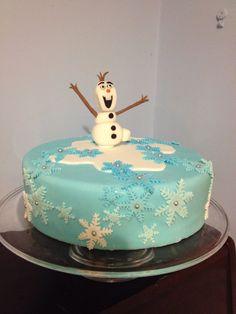 Olaf frozen Christmas cake