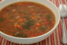 Tuscan Soup - A wonderful mix of lentils and vegetables with a hint of rosemary.