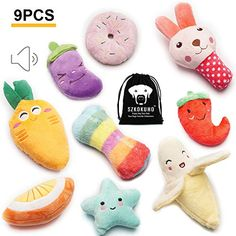 SZKOKUHO 9 Pack Puppy Squeaky Plush Dog Toys Set For Small Dogs to Bite Anytime,Variety Colors and Categories *** Learn more by visiting the image link. (This is an affiliate link) Small Dog Toys, Small Dogs, Large Dogs, Black Gift Bags, Dog Shots, Puppy Supplies, Interactive Dog Toys, Dog Chew Toys, Leather Dog Collars