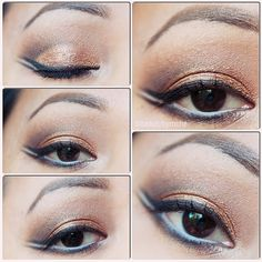 Double winged eyeliner for hooded eyes using Lorac Pro Palette