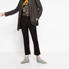 FLAT POINTED LEATHER ANKLE BOOTS-View all-SHOES-WOMAN | ZARA United States