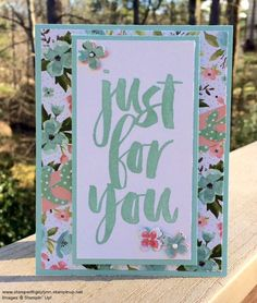 PPA286 : Stamp with Gay Lynn using Stampin' Up! Botanicals for You stamp set.