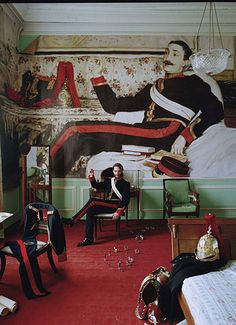 "https://flic.kr/p/9yi5sn | James Jacques Joseph Tissot's Frederick Gustavus Burnaby, 1870 - ""Blow Up"" by Tim Walker for W Magazine April 2011"