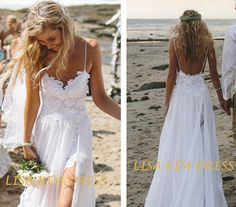 2014 Summer Wedding Dress Spaghetti Tops Hot Backless Wedding Dress Beach dress Floor Length Dress Your best choice for wedding in summer. on Etsy, $189.00