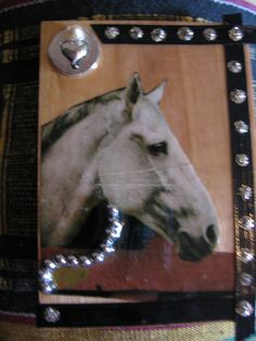 "retro kitsch art on 2 1/2 x 4"" wood. magnet"
