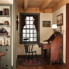 Nook with Timber Framed Ceiling - Early new England home designs (for future ref))