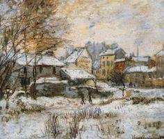 Effet de neige, soleil couchant, Monet