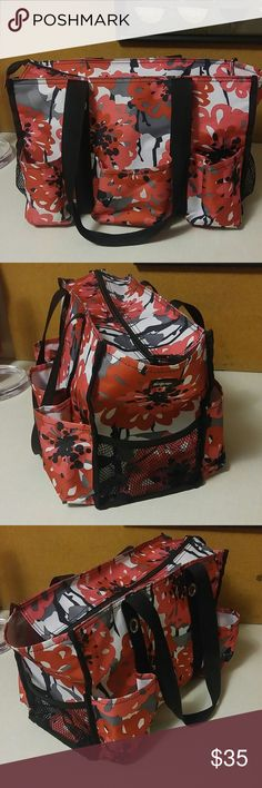Thirty one Zip-Top Organizing Utility Tote - Red and pink black white thirty one Bags