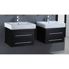 "Found it at Wayfair - 24"" Floating Double Bathroom Vanity Set with Mirror"