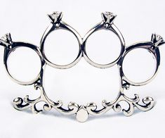 Knuckle Duster Engagement Rings | DudeIWantThat.com