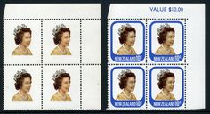 NZ Error Spectacular item 1977 10c Queen value blk 4 with omitted blue, one of New Zealands most spectacular errors, unique value blk except no value, Exhibition winner
