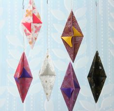 Origami Christmas ornaments. Easy and cute.