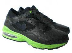 size 40 ddacf e7ea0 Danmark Billige Nike Air Max 93 Trainers Mænd - BalckGreen